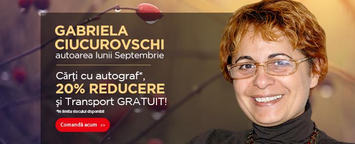 Autorul lunii la Libris: Gabriela Ciucurovschi - reducere de 20%