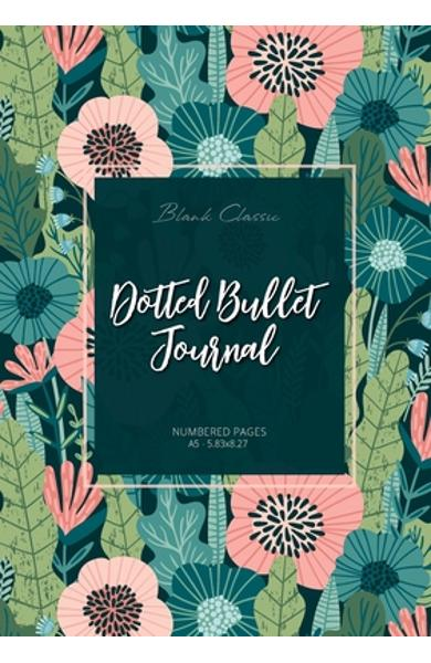 Dotted Bullet Journal: Medium A5 - 5.83X8.27 (Meadow Flowers) - Blank Classic