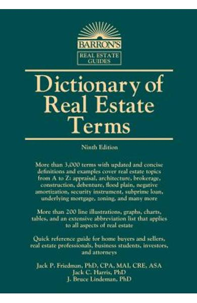 Dictionary of Real Estate Terms - Jack P. Friedman