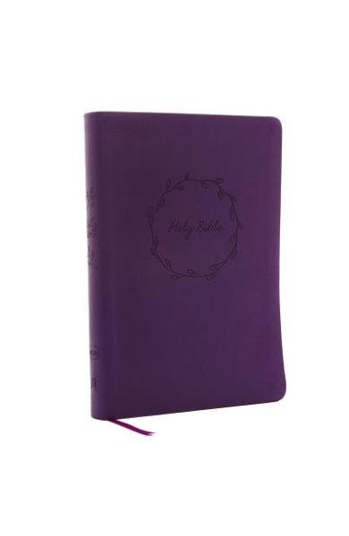 NKJV, Value Thinline Bible, Large Print, Imitation Leather, Purple, Red Letter Edition - Thomas Nelson