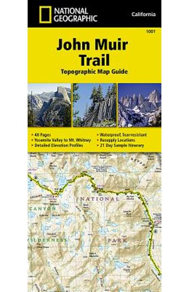 John Muir Trail Topographic Map Guide - National Geographic Maps
