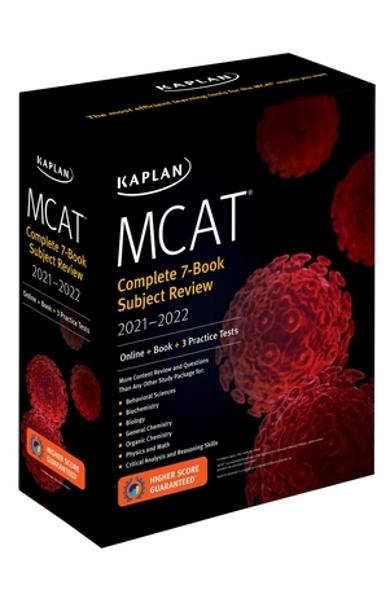 MCAT Complete 7-Book Subject Review 2021-2022: (online + Book + 3 Practice Tests) - Kaplan Test Prep