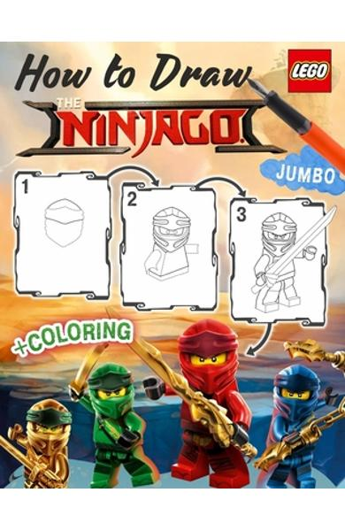 Lego Ninjago How to Draw: How to Draw Ninja, Villains, 25 Most Powerfull Ninjas, 2in1 Ninjago Coloring Book - Melissa Belin