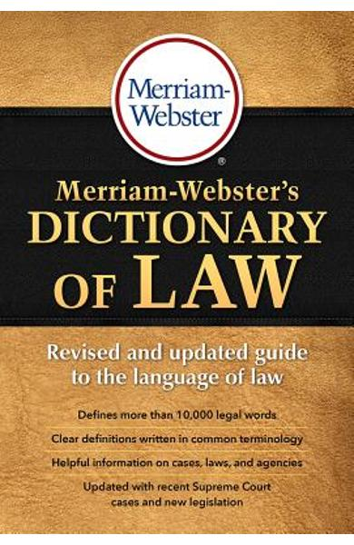 Merriam-Webster's Dictionary of Law - Merriam-webster