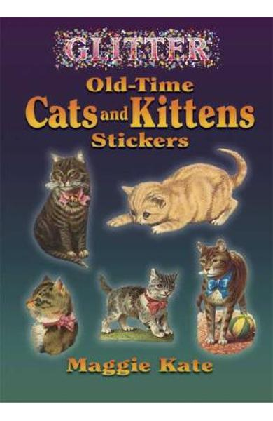 Glitter Old-Time Cats and Kittens Stickers - Maggie Kate