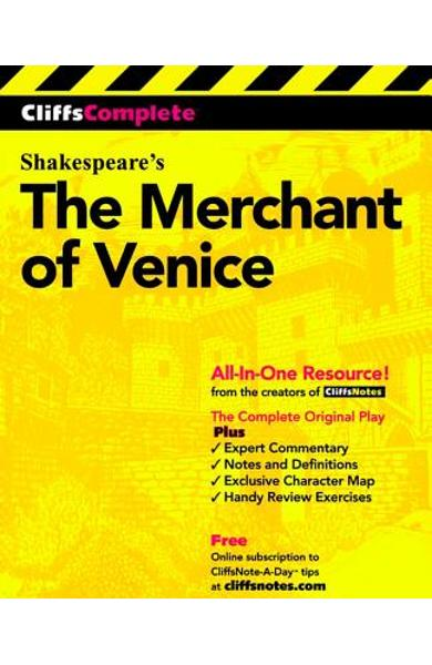 Cliffscomplete Merchant of Venice - William Shakespeare