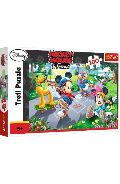 Puzzle 100. Mickey Mouse and Friends. Pe role cu Pluto