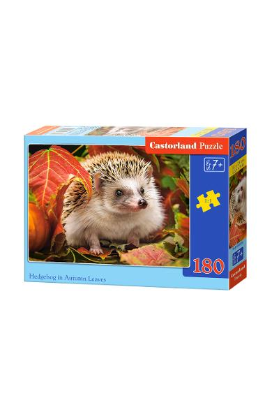 Puzzle 180. Hedgehog in Autumn Leaves