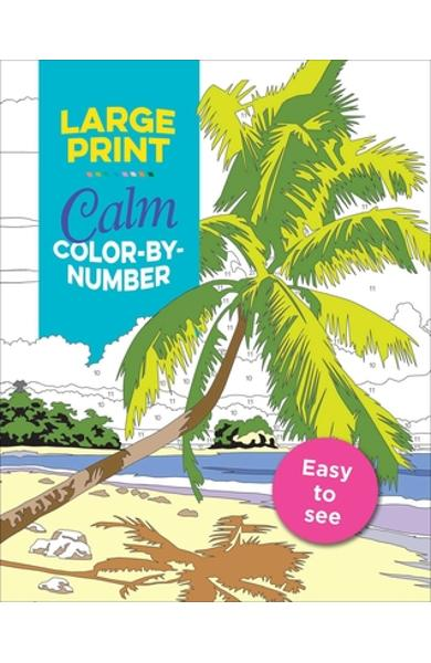 Large Print Calm Color-By-Number - Editors Of Thunder Bay Press