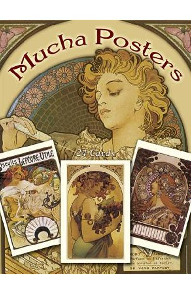 Mucha Posters Postcards: 24 Ready-To-Mail Cards - Alphonse Maria Mucha