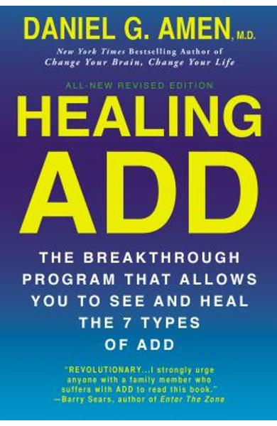 Healing ADD from the Inside Out: The Breakthrough Program That Allows You to See and Heal the Seven Types of Attention Deficit Disorder - Daniel G. Amen