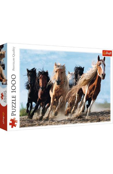 Puzzle 1000. Cai in galop