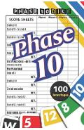 Phase 10 Score Sheets: V.5 Perfect 100 Phase Ten Score Sheets for Phase 10 Dice Game 4 Players - Nice Obvious Text - Small size 6*9 inch (Gif - D. J. Creative