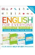 English for Everyone: Intermediate and Advanced Box Set: Course and Practice Books Four-Book Self-Study Program - Dk