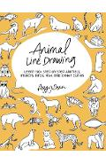 Animal Line Drawing: Learn 150+ Step-by-Step Animals, Insects, Birds, Fish, and Other Cuties - Peggy Dean