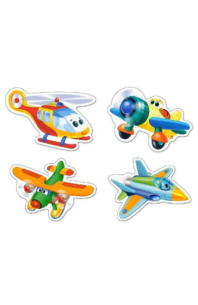 Puzzle 4 in 1. Funny Planes