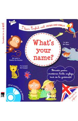 What's your name? + CD - I learn English with Peter and Emily - Annie Sussel, Christophe Boncens