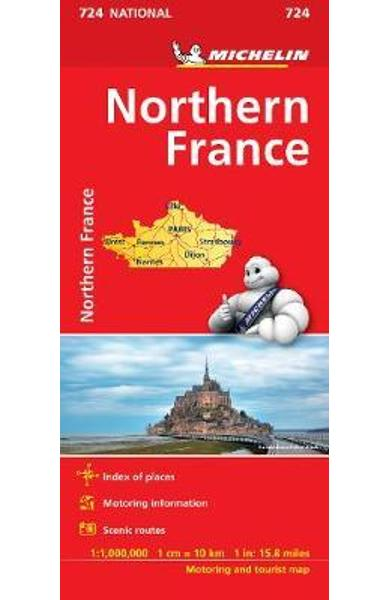 Northern France Map 724 -