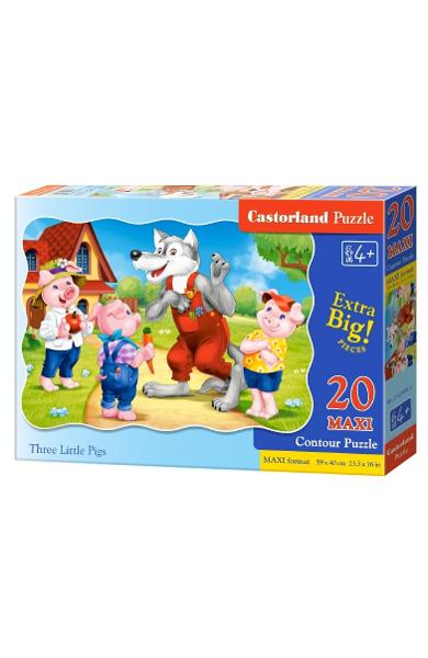 Puzzle 20 Maxi. Three Little Pigs