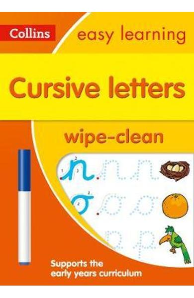 Cursive Letters Age 3-5 Wipe Clean Activity Book -