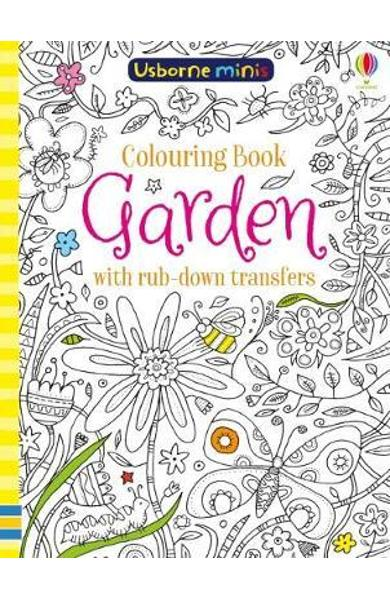 Colouring Book Garden with Rub Down Transfers