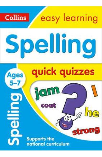 Spelling Quick Quizzes Ages 5-7 -