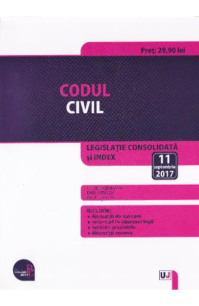 Codul civil 11 Septembrie 2017