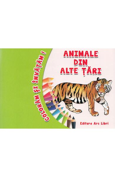 Animale din alte tari - Coloram si invatam!