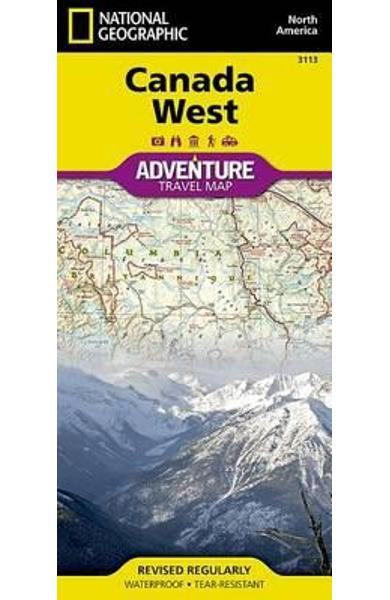 Canada West -  National Geographic Maps