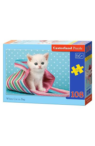 Puzzle 108 - White Cat in Bag