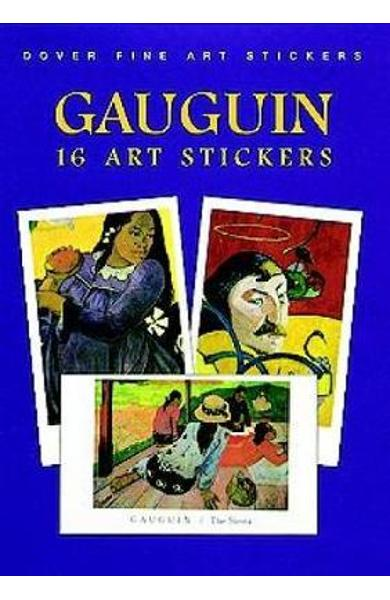 Gauguin: 16 Art Stickers - P Gauguin