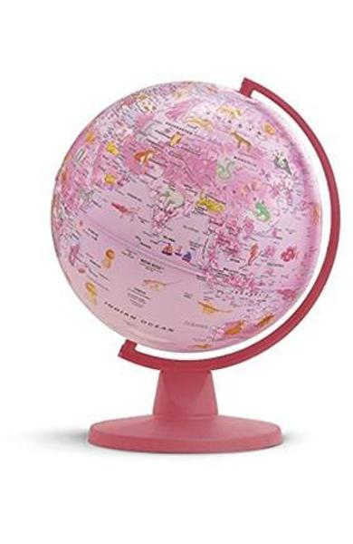 Insight Globe: Pink Animal Globe