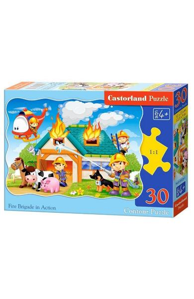 Puzzle 30 Castorland - Fire brigade in action