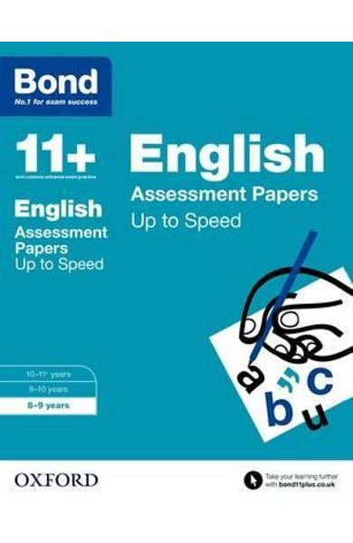 Bond 11+: English: Up to Speed Papers -