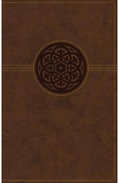 NRSV, Thinline Reference Bible, Leathersoft, Brown, Thumb In -