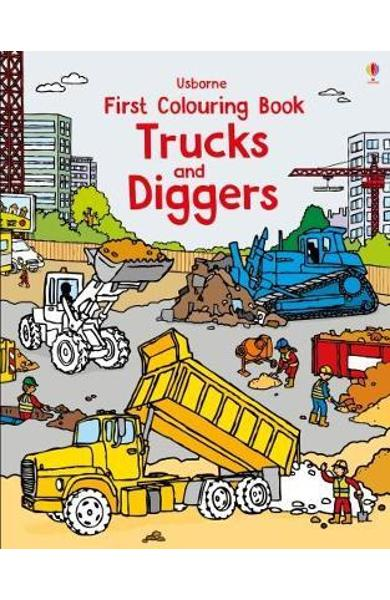 First Colouring Book Trucks and Diggers