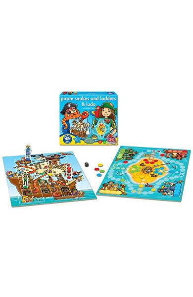 Pirate, snakes and ladders and Ludo. Piratii