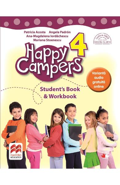 Happy Campers. Student's Book and Workbook - Clasa 4 - Patricia Acosta