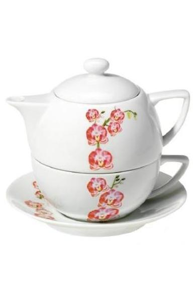 Set Tea For One Orchid - Ceainic + Cana + Capac - Tea Garden