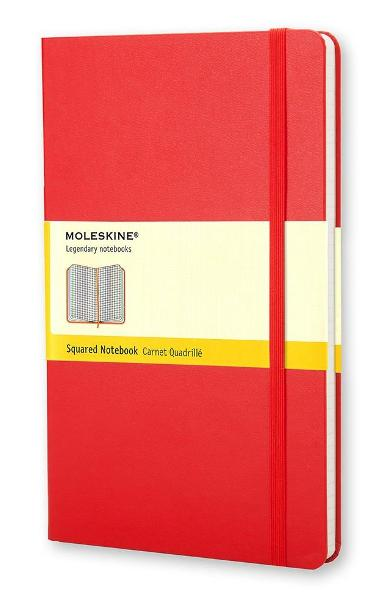 Moleskine Large Squared Notebook Red