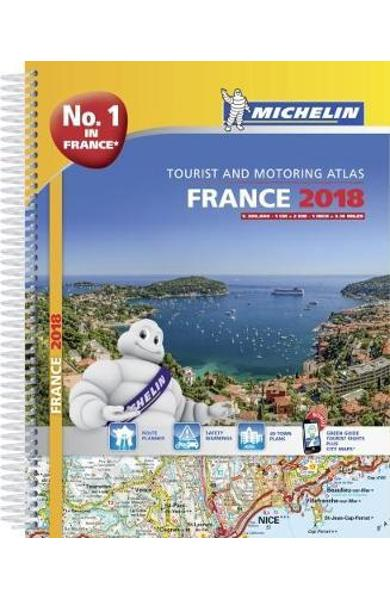 France 2018 - Tourist & Motoring atlas A4-Spiral