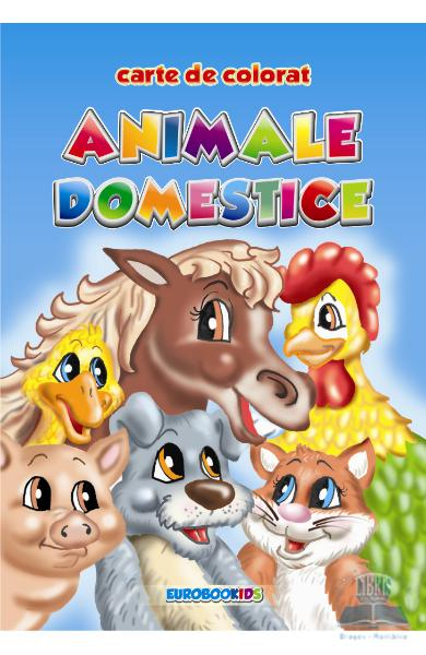Animale domestice - Carte de colorat A5