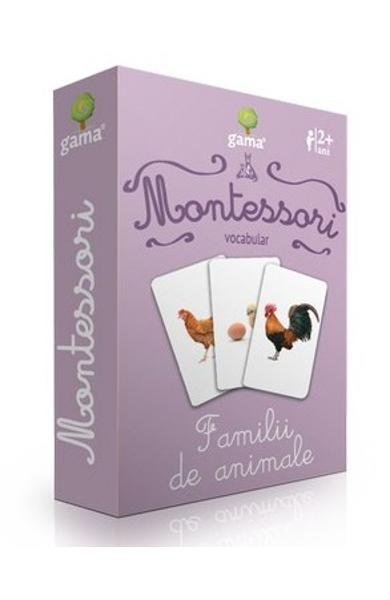 Montessori. Vocabular - Familii de animale