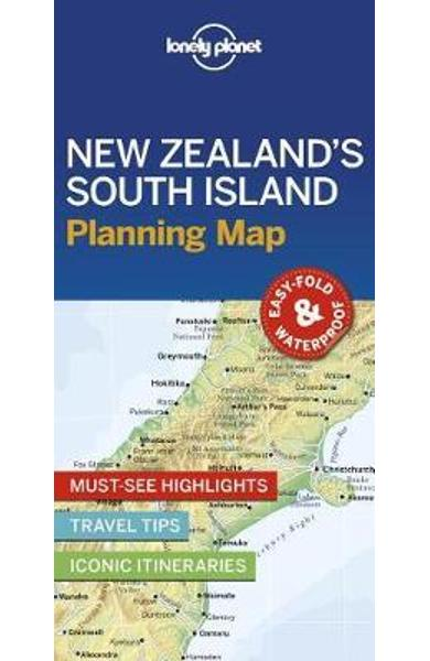 Lonely Planet New Zealand's South Island Planning Map -