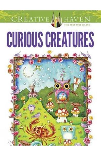 Creative Haven Curious Creatures Coloring Book - Amy Weber