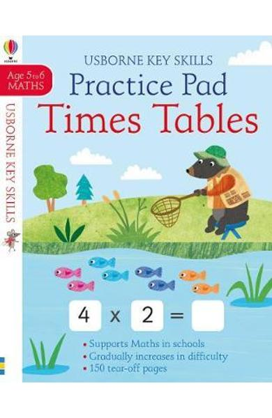 Times Tables Practice Pad 5-6