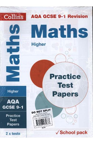 AQA GCSE 9-1 Maths Higher Practice Test Papers
