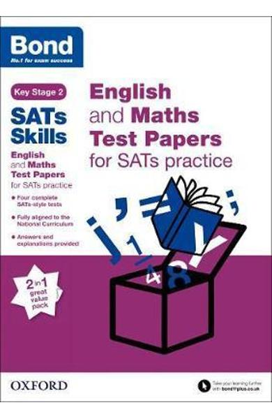 Bond SATs Skills: English and Maths Test Paper Pack for SATs