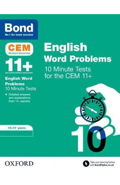 Bond 11+: CEM English Word Problems 10 Minute Tests