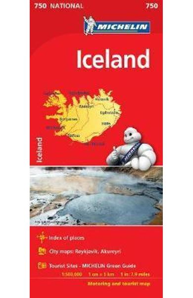 Iceland National Map 750